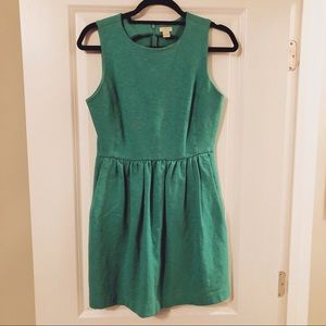 Green JCrew A-line Sleeveless Dress Size SMALL